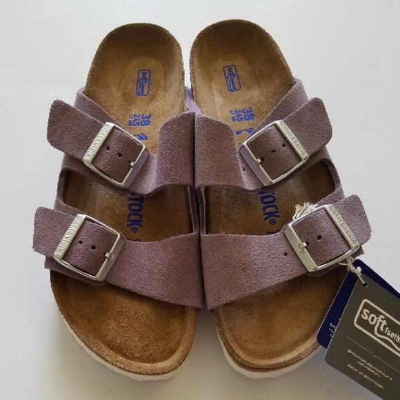 5bf2b3168 New Birkenstock Arizona Soft Footbed Lavender 38